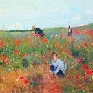 Poppy in the field by Cassatt - A3 Poster