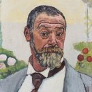 Self Portrait with Roses, 1914 - A3 Poster