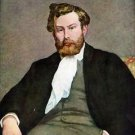 Portrait of Alfred Sisley by Renoir - A3 Poster