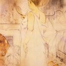 Woman with mirror by Toulouse-Lautrec - A3 Poster