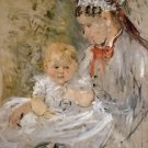Julie with Her Nurse - 1880 - A3 Poster