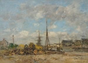 The Port of Trouville, 1876 - A3 Poster