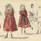 Children in Red Dress, 1865 - Poster (24x32IN)