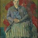 Portrait of Madame Cezanne in the Red Armchair, 1877 - A3 Poster