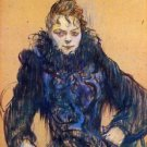 Woman in a black boa by Toulouse-Lautrec - A3 Poster