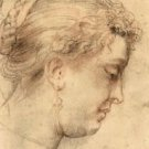 Head of a woman [1] by Rubens - 24x18 IN Canvas