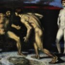 The struggle for women [1] by Franz von Stuck - 24x18 IN Canvas