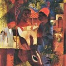 Market in Tunisia by August Macke - A3 Poster