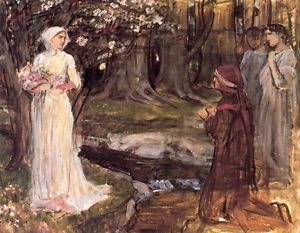 John William Waterhouse Dante And Beatrice - A3 Poster
