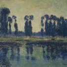 Poplars on the Bank of the Eure - A3 Poster