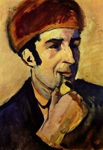 Portrait of Franz Marc by Macke - A3 Poster
