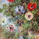 Still Life with Anemones by Monet - 24x18 IN Canvas