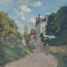 View of the Rue De Moubuisson, Louveciennes, 1874 - A3 Poster