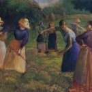 Haymaking in Eragny, 1901 - A3 Poster