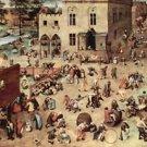 Child's play by Pieter Bruegel - 24x18 IN Canvas