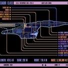 Vinteja charts of - LCARS UFP Ambassador Class Starship - A3 Paper Print