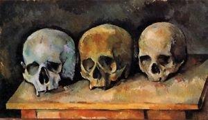 Still Life with Three Skulls, 1900 - 24x18 IN Canvas