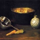 Still Life with Pepper and Carrot, 1900 - 24x18 IN Canvas