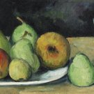 Still Life with Pears and Glass, 1879-80 - 24x18 IN Canvas