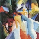 Greetings from the balcony by August Macke - A3 Poster