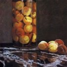 The Peach Glass by Monet - 24x18 IN Canvas