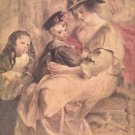 Portrait of the artist's family by Rubens - 24x18 IN Poster
