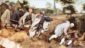 Parabal of the blind men by Pieter Bruegel - 24x32 IN Canvas