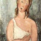 Modigliani - Girl in shirt - A3 Paper Print