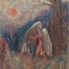 Jacob Wrestling with the Angel, 1905 - A3 Poster