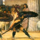 A dance for Phyrrus by Alma-Tadema - 24x18 IN Canvas