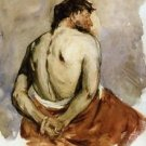 Back of a Male Figure, 1885 - 24x18 IN Poster