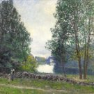 Banks of the Loing, 1895 - 24x18 IN Canvas