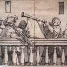 Musicians on a Gallery. c.1524 - 24x18 IN Canvas