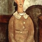 Modigliani - Girl in a yellow dress - A3 Paper Print