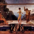 The judgement of Paris by Max Klinger - 24x18 IN Canvas