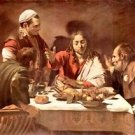 Christ in Emmaus by Caravaggio - A3 Poster