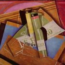 Still Life with Bordeau Winde by Juan Gris - 24x18 IN Canvas