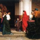 Entrance to a Roman theater by Alma-Tadema - 24x32 IN Canvas