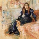 Julie Manet and Her Greyhound, Laertes - 1893 - A3 Poster