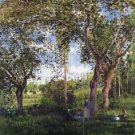 Landscape with Strollers Relaxing under the Trees, 1872 - A3 Poster