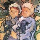 Two Children [1] by Van Gogh - 24x18 IN Canvas