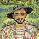 Young Farmer [1] by Van Gogh - 24x18 IN Canvas