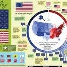 Vinteja charts of - US Flag History - A3 Paper Print