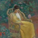 Young Woman with a Dove - 24x32 IN Canvas