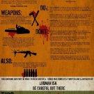 Vinteja charts of - Zombie Apocalypse Guide - A3 Paper Print