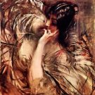 The blouse of Voile by Giovanni Boldini - 24x18 IN Poster