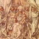 Madonna with angels under a canopy by Durer - 24x18 IN Canvas