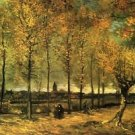 Lane with Poplars - A3 Poster