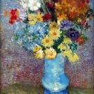 Flowers in a blue vase by Van Gogh - A3 Paper Print