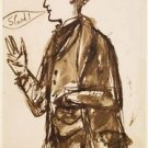 Caricature of John Everett Millais, ca1851-53 - A3 Poster